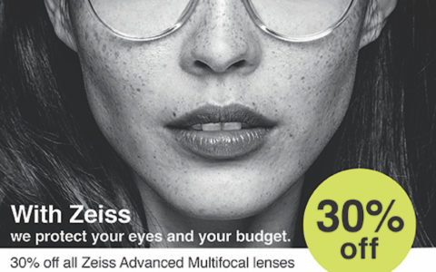 30% off all Zeiss Advanced Multifocal lenses